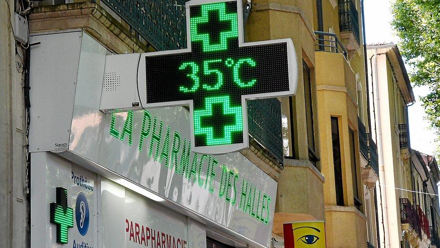 Chaleur chaleur sur l'Aveyron.