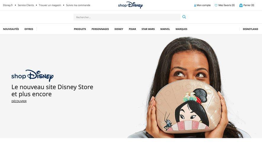 Shop Disney, le nouveau magasin virtuel de Disney