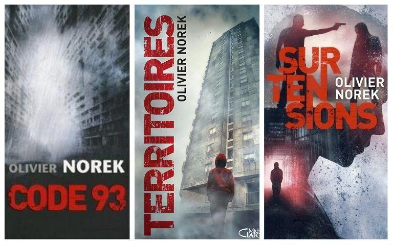 Ses trois premiers livres : Code 93 (2013), Territoires (2014) et Surtensions (2016).