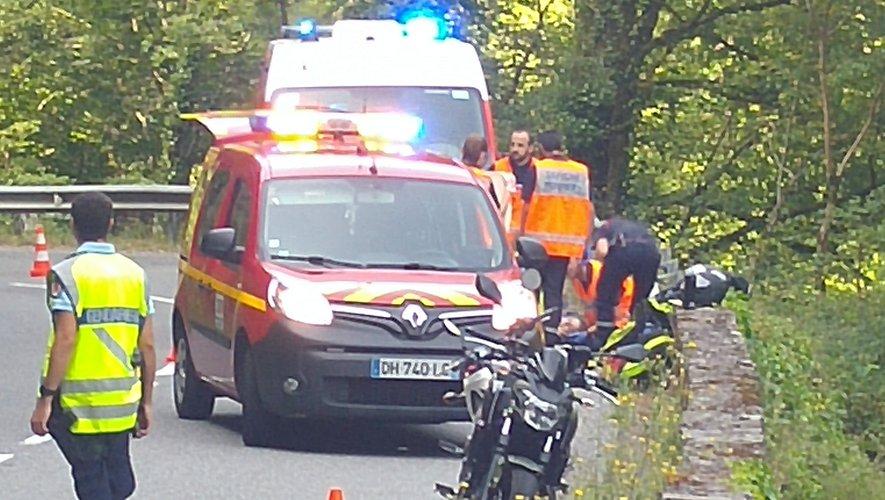 Une motarde de 19 ans grièvement blessée sur la D901
