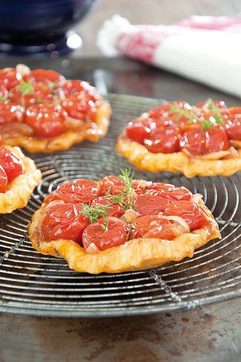 Petites tatins de tomates cerise