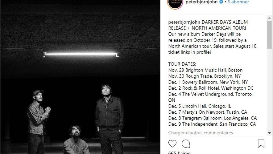 Pter Bjorn and John partiront en tournée à partir du 18 octobre prochain.