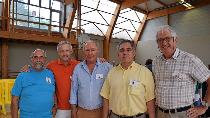 Pierre Loubière, Frédéric Lavernhe, Jean Fabre de Morlhon, Pierre Vincens et Robert Moiroux, organisateurs de la journée.