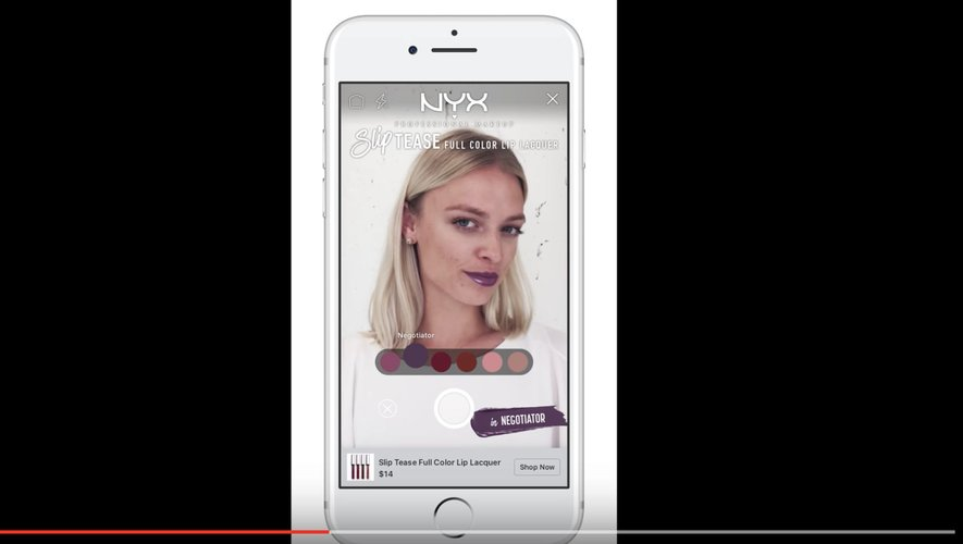 """Démonstration """"NYX Professional Makeup - Facebook AR Experience"""""""