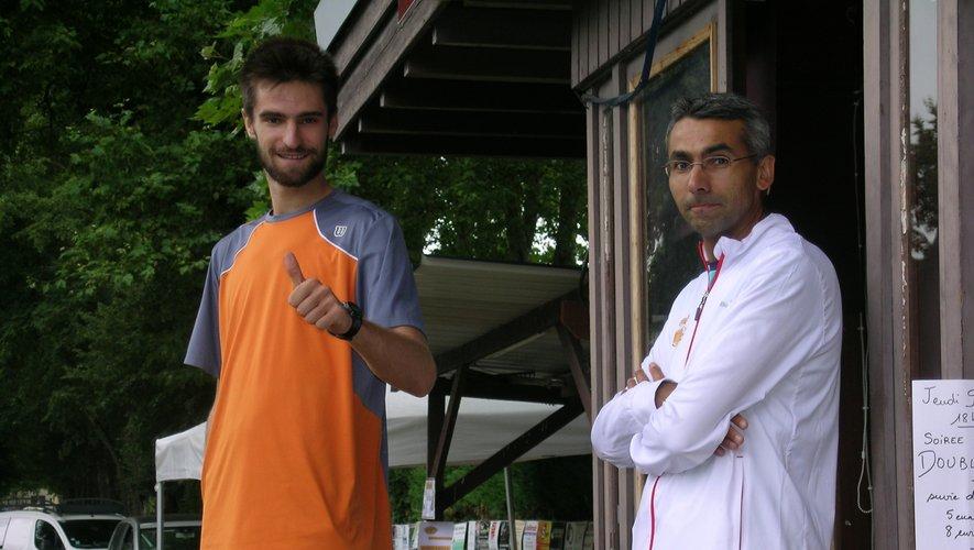 Le staff technique du tournoi avec Jean-Baptiste Hugo et Julien Camboulives diplômé d'État.