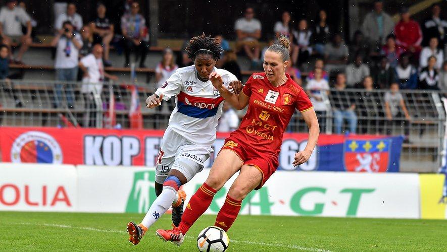 Auteur d'un doublé au cours du premier match amical contre Soyaux (3-2), Flavie Lemaitre n'a pas trouvé la faille hier face à Bordeaux. Les Ruthénoises ont été battues 2-0.  Archives JLB
