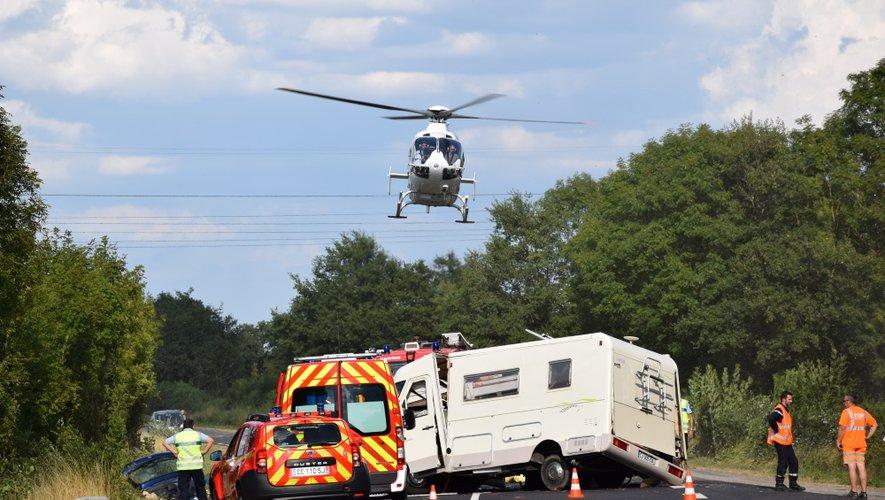 L'accident s'est produit à la sortie de Gages en direction de Bertholène.