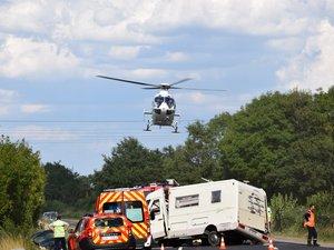 Un mort et cinq blessés, dont deux en urgence absolue, dans un accident sur la RN88