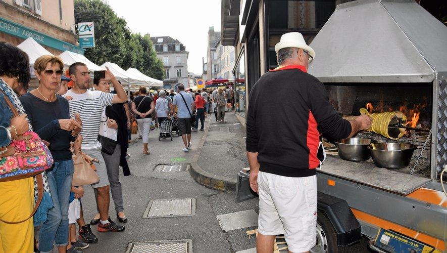 Jacky Daudé sillonne  les marchés de l'Aveyron.