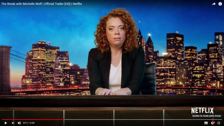 """Michelle Wolf a notamment écrit des sketchs pour l'émission """"Late Night with Seth Meyers"""" en 2014."""