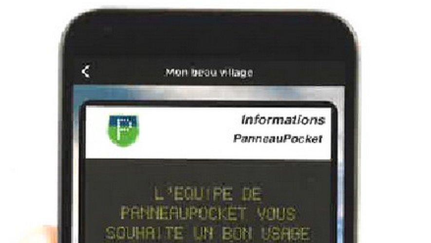 En ouvrant Panneau Pocket, l'utilisateur obtient des informations utiles sur sa ville.