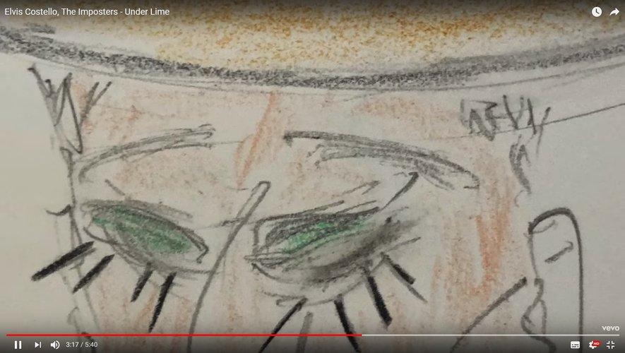 """Le dernier clip d'Elvis Costello, The Imposters """"Under Lime""""."""