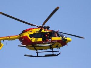 Une randonneuse secourue par hélicoptère dans le Sud-Aveyron