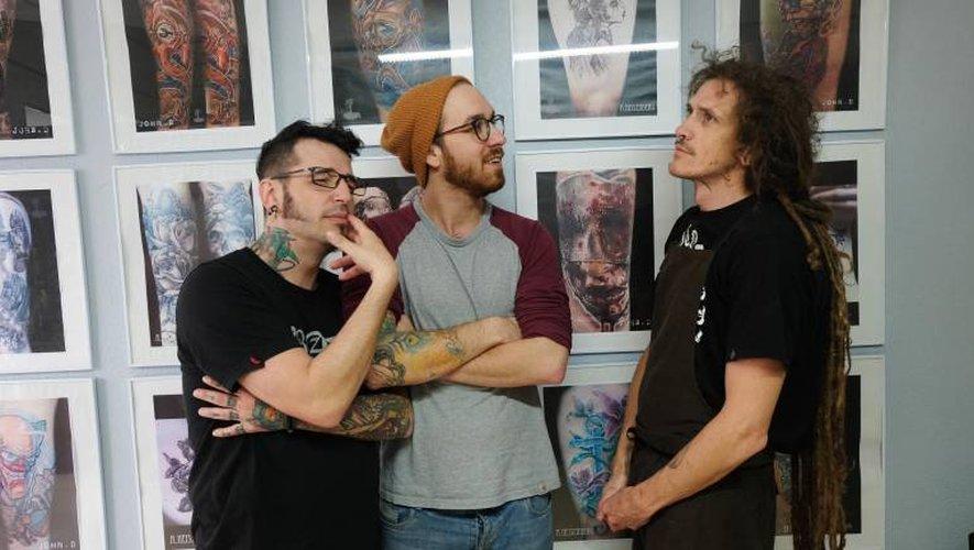 les tatoueurs decazevillois de la gorgone en convention à new york