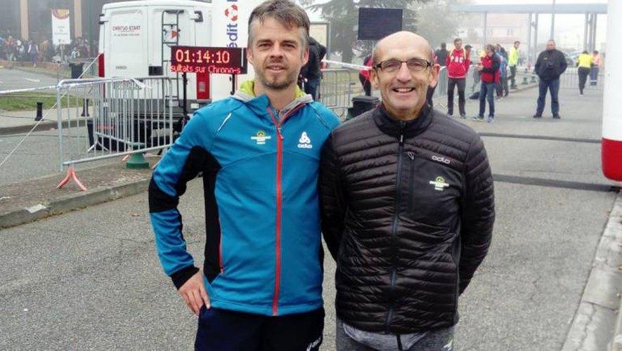 Une très belle histoire sportive et d'amitié entre Romain Fayel (à gauche) et Norbert Sahut.