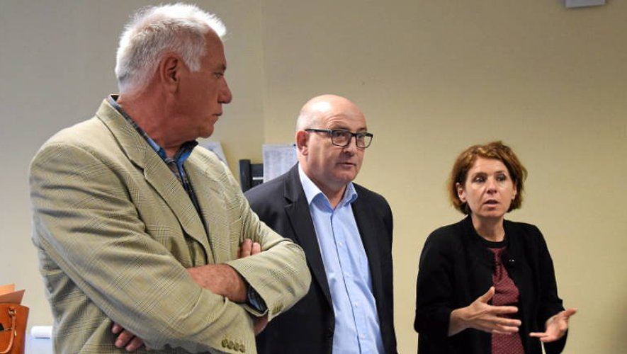 Michèle Lugrand, aux côtés de Jacques Molières (au centre) (Photo Ph.H.).