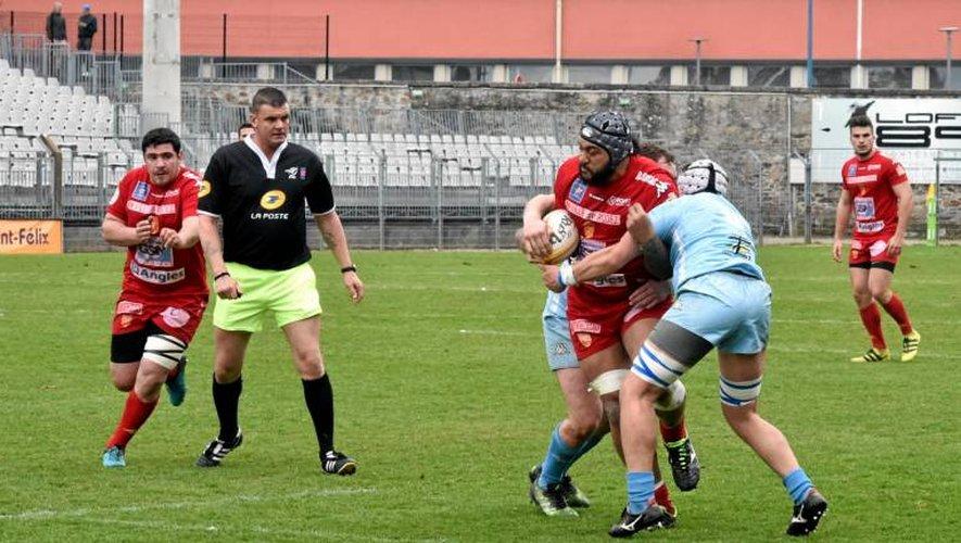 Quatre points pour le SRA mais aussi plusieurs joueurs blessés gravement (Photo archives CPA).