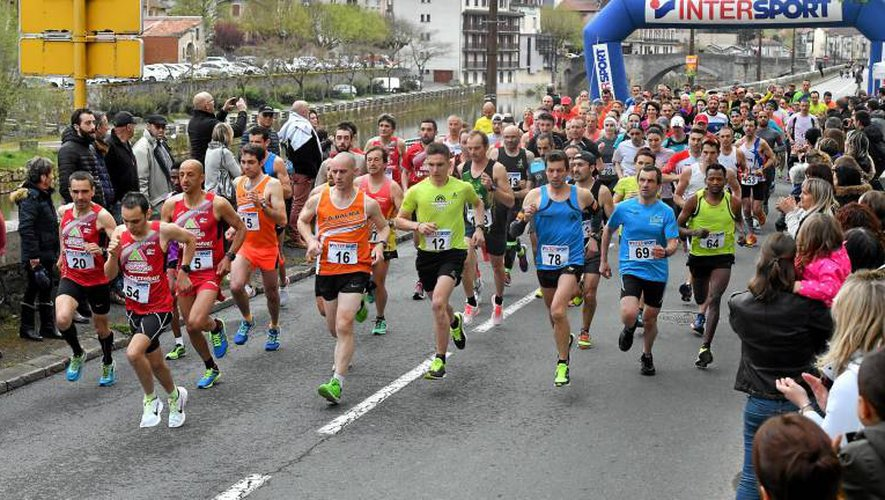 Le départ du 10 km et les deux lauréats, dames et hommes. JLB
