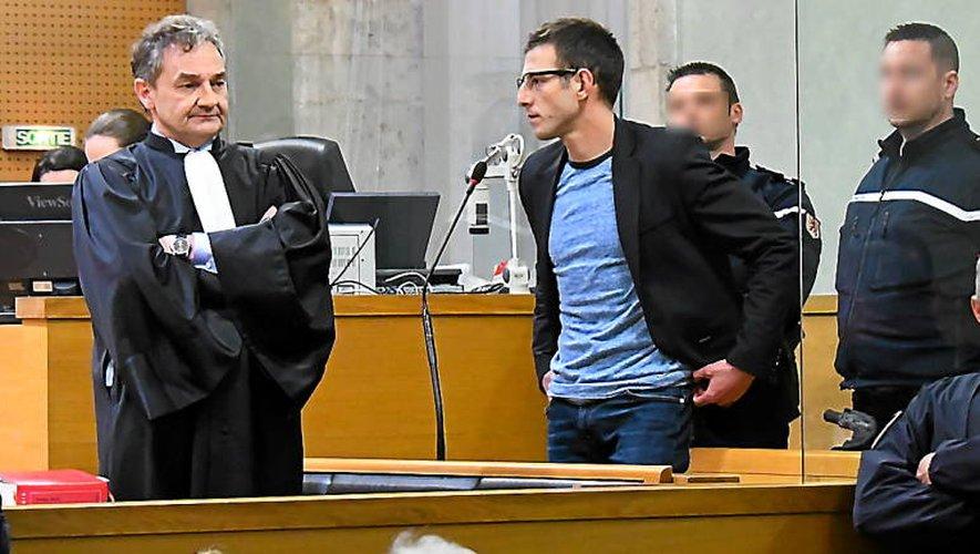 Jérémy Munoz, la semaine dernière au tribunal de Rodez, après l'annonce de sa peine : 15 ans de réclusion criminelle.