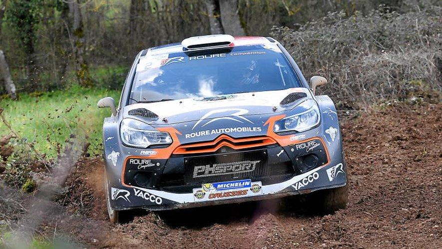 Le pilote de Cuges-les-Pins Thibault Durbec s'est montré le plus rapide hier, au volant de sa DS3 WRC (Photo Jean-Louis Bories).