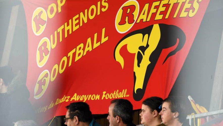En 2015 notamment, à l'occasion de la venue du PSG, le Kop ruthénois a affiché son soutien aux Rafettes.