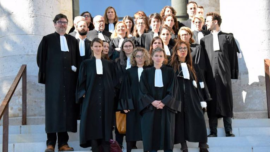 Les avocats aveyronnais, comme un peu partout en France, sont mobilisés.