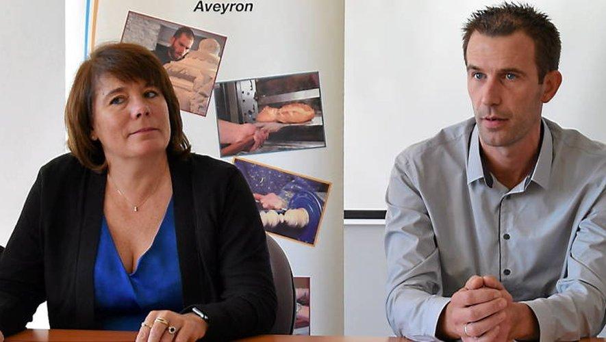 Christine Sahuet, directrice de la Chambre de métiers, à côté de François Pétavy, nouveau directeur du campus.