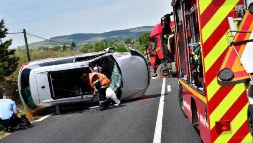 L'accident a eu lieu un peu avant 15 h sur la RD911.