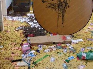 Villefranche-de-Rouergue: une ancienne école maternelle vandalisée