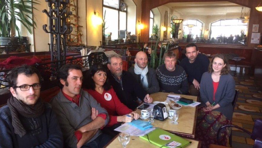 Les représentants des treize organisations et du collectif Graines mobilisées pour manifester samedi à Rignac.