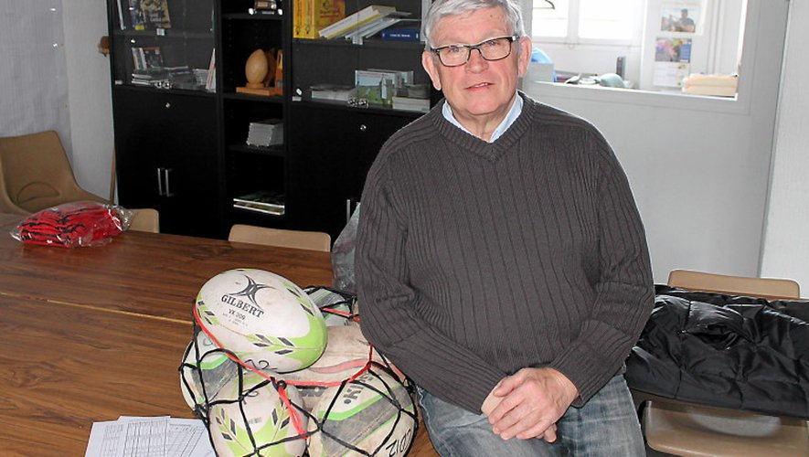 Gérard Fourquet, président du comité aveyronnais de rugby.