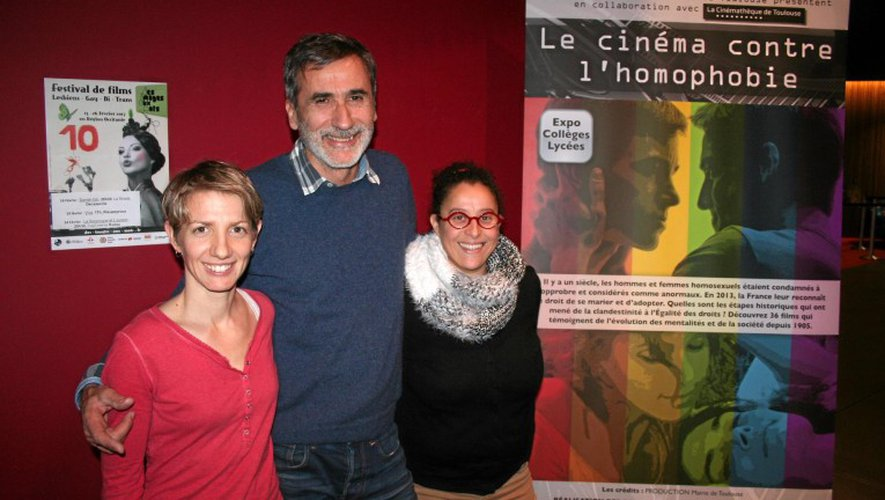 Céline Ransinangue, Michel Megnin et Kaltoum El Majdoub de l'association Alert (es).