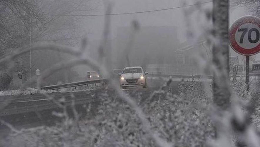 La neige cause plusieurs accidents de la route dans le Nord-Aveyron