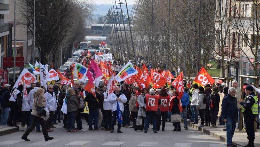 Il y avait foule à Rodez ce jeudi après-midi lors de la mobilisation des fonctionnaires.