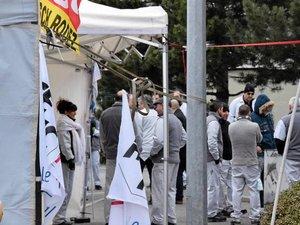 Grève à la Bosch: l'entrée du site totalement bloquée!