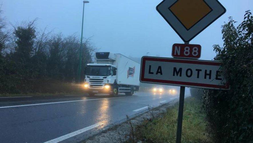 L'accident s'est produit vers La Mothe, sur la RN88.