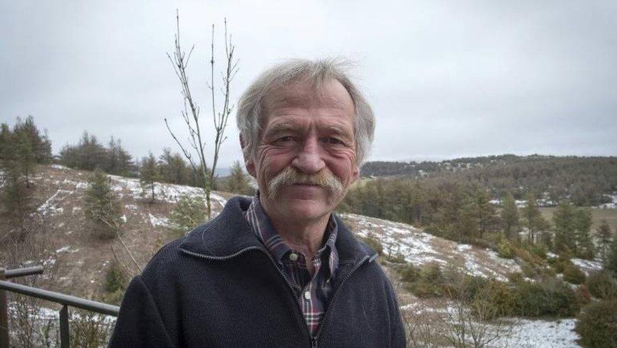Le député européen écologiste José Bové, lors d'une interview avec l'AFP, chez lui à Montredon, sur le plateau du Larzac, le 11 janvier 2018.