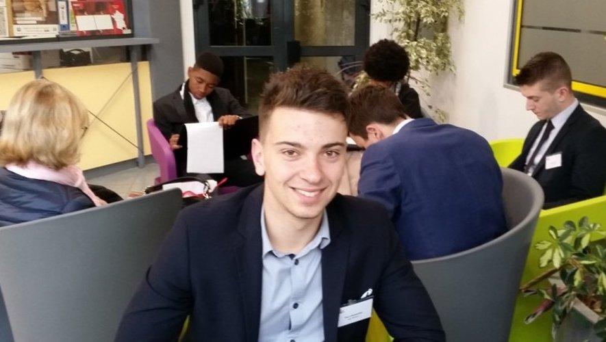 Paul Cromières, étudiant aveyronnais originaire de Huparlac, était tout sourire après son succès lors des «EGCiales».