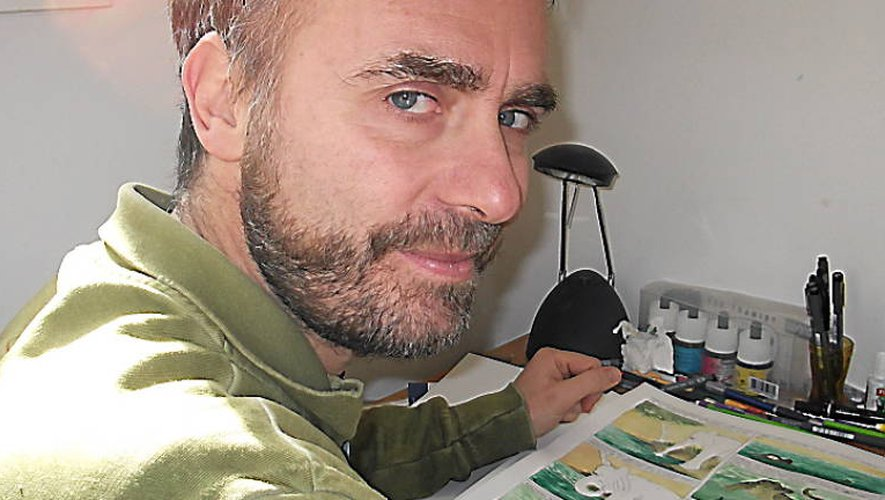 Aveyron : Christophe Adant signa sa première BD