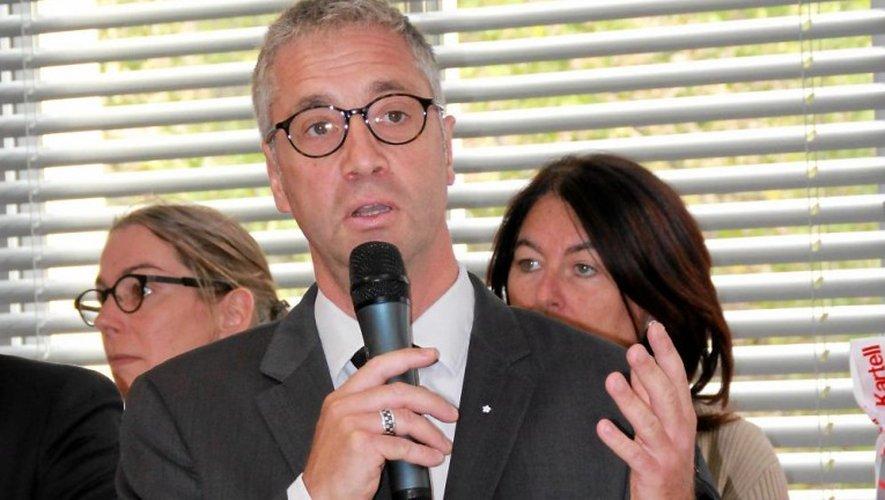 Vincent Prévoteau, lors de son dernier discours au centre hospitalier de Salon-de-Provence.