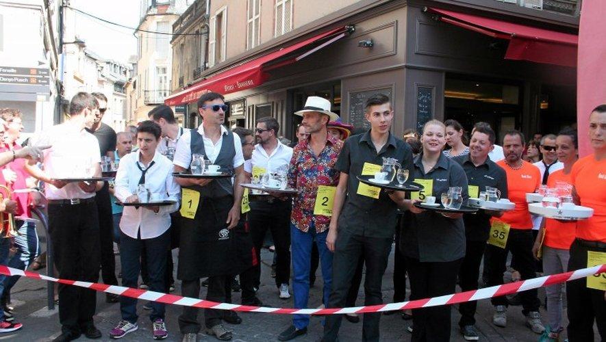 Samedi, 15 heures  à Rodez : 5e édition de la Course des garçons de café. Archives : JA. Torres