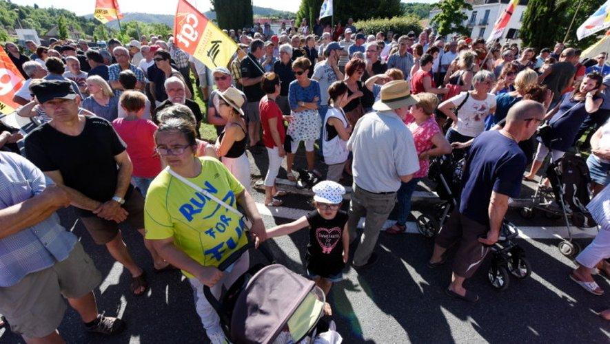 Près de 600 personnes étaient dans la rue, jeudi à Decazeville.