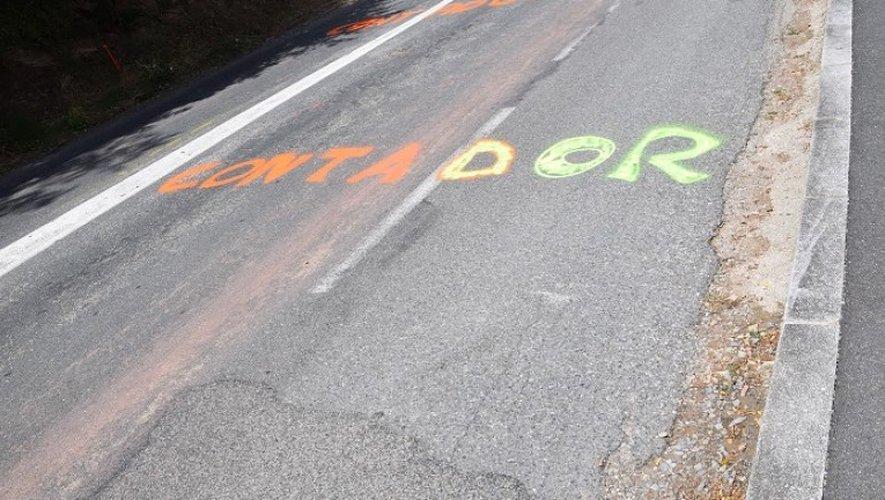 Alberto Contador s'affiche déjà côte de Saint-Pierre à Bourran