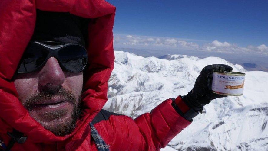 Betrand Vayssettes, à 7126 mètres, à deux pas de l'Everest.