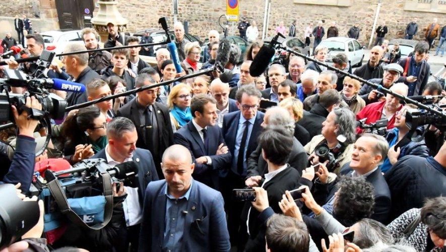 Revivez la visite d'Emmanuel Macron à Rodez