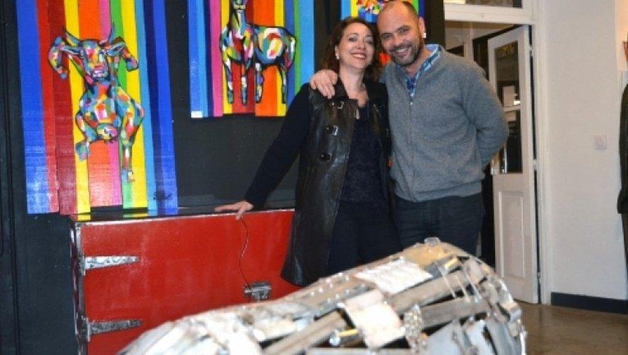 Eric Coarer et Nathalie Fillol.
