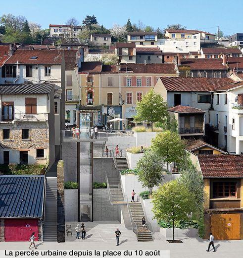 Decazeville : découvrez le nouveau visage de la rue Cayrade et sa percée urbaine
