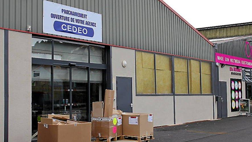 L'enseigne provisoire annonce l'arrivée de Cedeo, fixée au lundi 19mars.