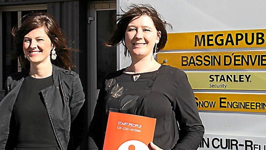 Pauline Choinet (à gauche), directrice de la pépinière d'entreprises, a accueilli Stéphanie Tastayre, l'assistante commerciale de Start People.