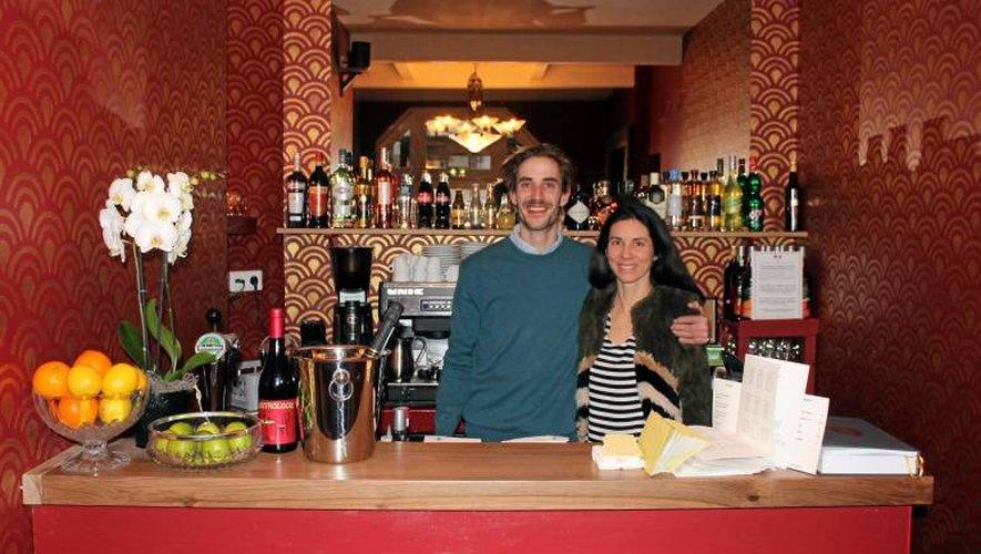 Luc Pourrat et Chloé Tatin ont ouvert hier le restaurant et salon de thé La Maison,rue Louis-Oustry.